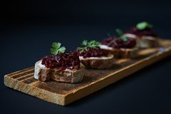 Appetizers in nordic style Royalty Free Stock Image