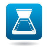 Open scanner icon in simple style Royalty Free Stock Image