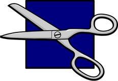 Open scissors. Illustration of an open scissors tool Royalty Free Stock Image