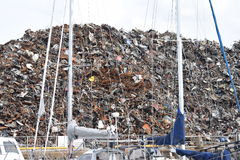 Open scrap yard in Galway Royalty Free Stock Images