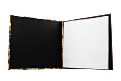 Open Scrapbook. On an isolated white background Royalty Free Stock Photography