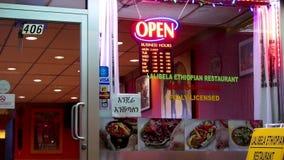 Open se connectent le restaurant éthiopien de Lalibela banque de vidéos