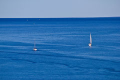 Open sea boats, sailboats and yachts Royalty Free Stock Photo