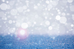 Open sea with bokeh and lens flare Royalty Free Stock Photo