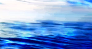 Open sea digital painting Stock Images