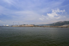 Open sea of power plant, zhangzhou city Royalty Free Stock Images