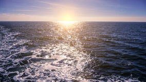 Open sea and sunlight Stock Photography