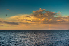 Open sea at sunset. Outdoor shot with natural light Stock Images