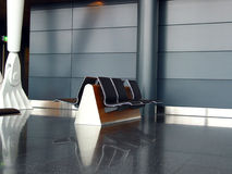 Open Seating. Zurich International Airport Departure Lounge stock images