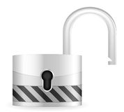 Open security padlock 2 Royalty Free Stock Photos