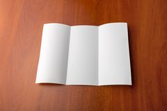 Open sheet of paper Stock Photo