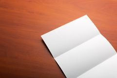 Open sheet of paper Royalty Free Stock Photos