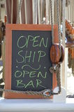 Open ship - Open bar Stock Photo