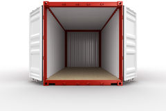 Open shipping container Royalty Free Stock Photography