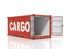 Open shipping container. Stock Photos