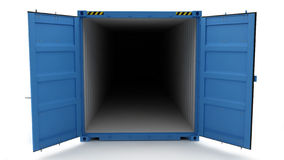Open Shipping Container Royalty Free Stock Photo