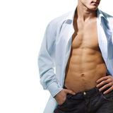 Open shirt Stock Images
