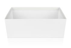 Open shoe box isolated on white Stock Image