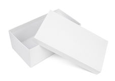 Open shoe box on white Stock Photography