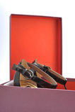 Open shoebox Stock Image