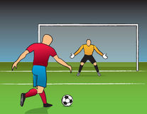 Open Shot On Goal Royalty Free Stock Photo