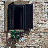 Open  Shutters Stock Photography