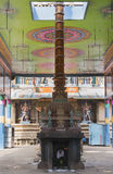 Open-sided hall to inner sanctum at Mahalingeswarar Temple. Royalty Free Stock Image