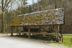 Austrian Open-Air museum Stuebing near Graz: Cart shed, Semriach Royalty Free Stock Image