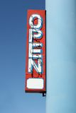 Open sign. Neon open store shop sign royalty free stock images