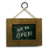 We are open sign Royalty Free Stock Photography
