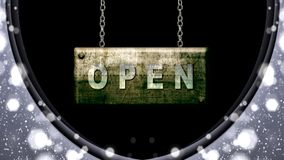 Open sign stock footage