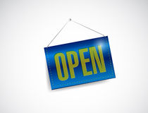 Open sign banner illustration design Royalty Free Stock Images
