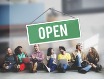 Open Sign Banner Welcome Notice Concept Royalty Free Stock Photo