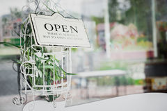 Open sign board Royalty Free Stock Images