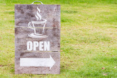 Open sign board Stock Photography