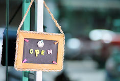 Open sign broad Royalty Free Stock Image