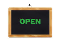 Open-sign-business hours Royalty Free Stock Image
