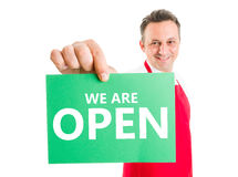 Open sign concept Stock Photo