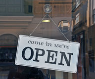 Open sign on the door Royalty Free Stock Images