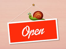 Open sign on door Royalty Free Stock Images