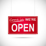 Open Sign Illustration Stock Images