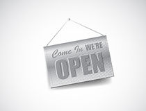 We are Open Sign. Illustration design Royalty Free Stock Photo