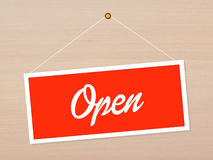 Open sign Stock Image