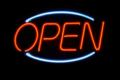 Open sign in Neon Royalty Free Stock Photos