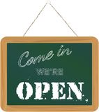 We are open sign Stock Image