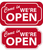 Open Sign (vector). Vector illustration of Come In We're Open Sign Vector Illustration