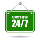 Always open sign Royalty Free Stock Photo
