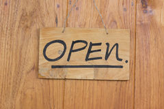 Open Sign. Stock Photo