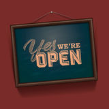 We are Open Sign Stock Photo
