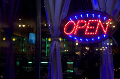 Open sign on a widow Royalty Free Stock Images